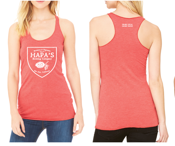 Hapa's Brewery Light Red Tank Top